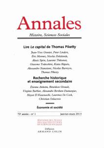 Vers une économie politique et historique : Réflexions sur le capital au XXIe siècle / Thomas Piketty   Piketty, Thomas